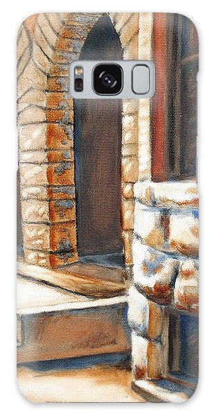 Street Scene Oil Painting Galaxy Case