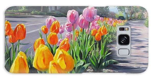 Street Tulips Galaxy Case by Karen Ilari