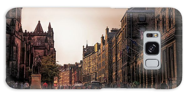 Streets Of Edinburgh Scotland  Galaxy Case
