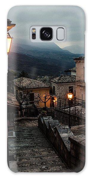 Streets Of Italy - Caramanico Galaxy Case by Andrea Mazzocchetti