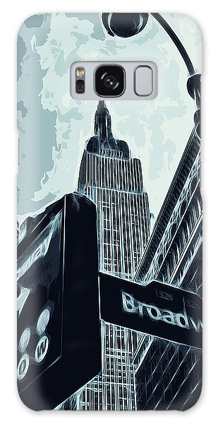 Traffic Signals Galaxy Case - Streets Of New York - Broadway View by Andrea Mazzocchetti