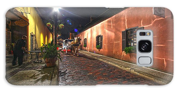 Streets Of St Augustine Galaxy Case