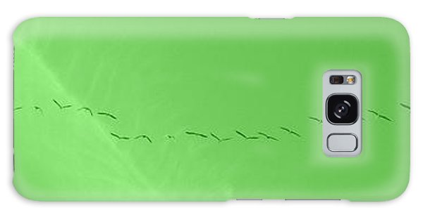 String Of Birds In Green Galaxy Case