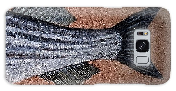 Striped Bass Galaxy Case by Andrew Drozdowicz