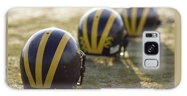 Striped Helmets On A Yard Line Galaxy Case