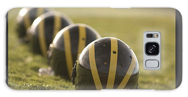 Striped Helmets On Yard Line Galaxy Case