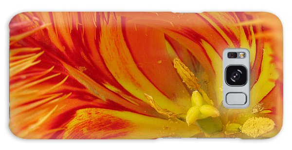 Striped Parrot Tulips. Olympic Flame Galaxy Case by Ausra Huntington nee Paulauskaite