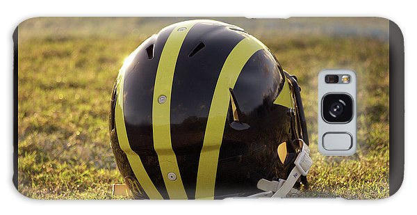 Striped Wolverine Helmet On The Field At Dawn Galaxy Case