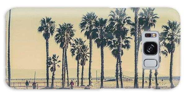 Two People Galaxy Case - Stroll Down Venice Beach by Az Jackson