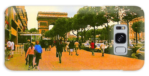 Strollers Along The Champs Elysees Galaxy Case