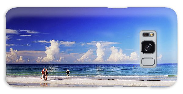 Galaxy Case featuring the photograph Strolling The Beach by Gary Wonning