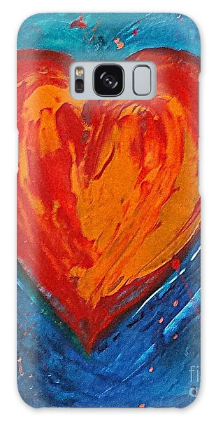 Strong Heart Galaxy Case by Diana Bursztein