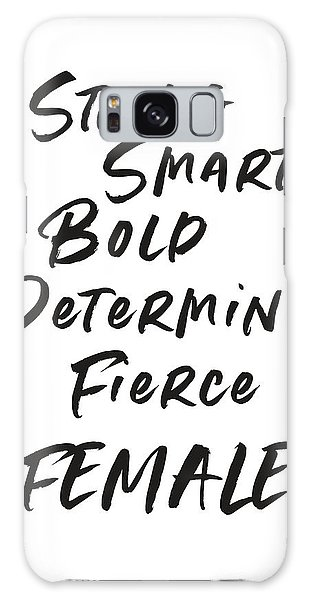 Smart Galaxy Case - Strong Smart Bold Female- Art By Linda Woods by Linda Woods