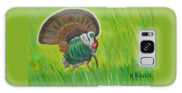 Strutting Turkey In The Grass Galaxy Case by Margaret Harmon