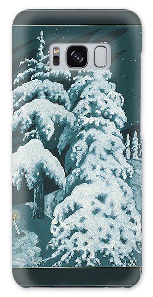 Galaxy Case featuring the painting Study For Winter Trees Of Life 299 by William Hart McNichols