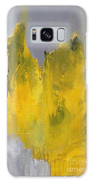 Study In Yellow And Grey Galaxy Case