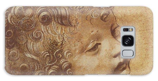 Pen And Ink Drawing Galaxy Case - Study Of A Child's Head by Leonardo Da Vinci