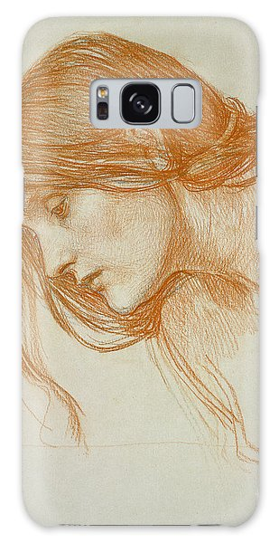 Minimal Galaxy Case - Study Of A Girls Head by John William Waterhouse