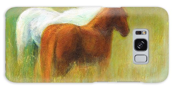Study Of Two Ponies Galaxy Case by Frances Marino