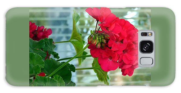 Stunning Red Geranium Galaxy Case