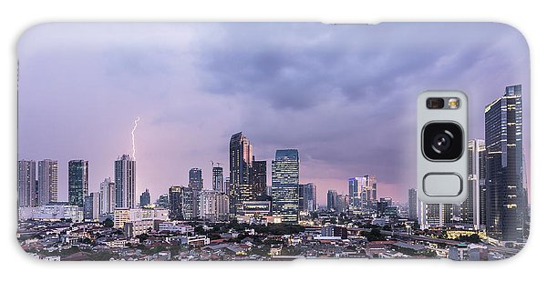Stunning Sunset Over Jakarta, Indonesia Capital City Galaxy Case