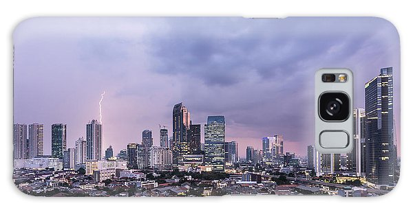 Stunning Sunset Over Jakarta, Indonesia Capital City Galaxy Case