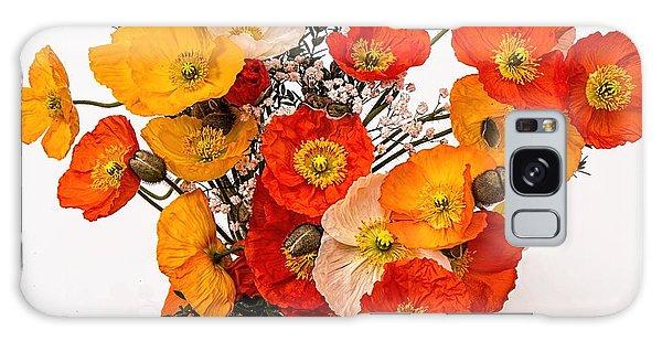 Stunning Vibrant Yellow Orange Poppies  Galaxy Case