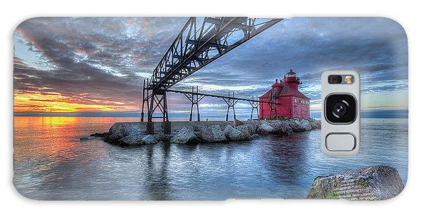 Sturgeon Bay Lighthouse Sunrise Galaxy Case