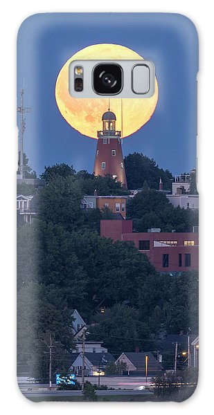 Sturgeon Moon Over Portland Observatory Galaxy Case