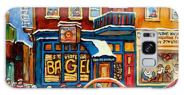 St.viateur Bagel Hockey Montreal Galaxy Case by Carole Spandau
