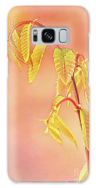 Stylized Baby Chestnut Leaves Galaxy Case