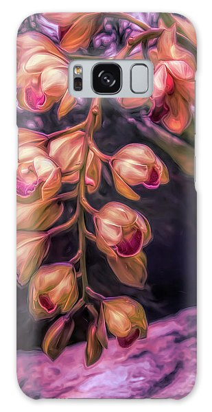 Orchid Galaxy S8 Case - Stylized Orchids by Tom Mc Nemar