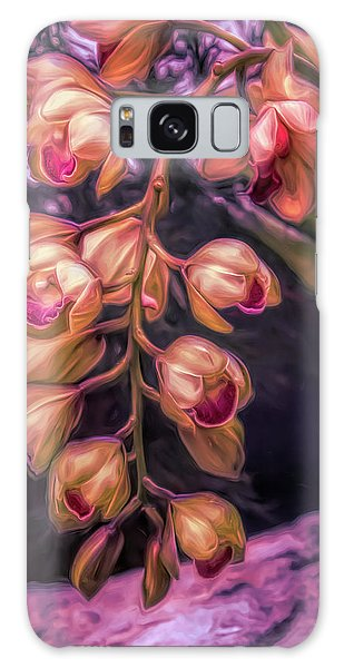 Orchid Galaxy Case - Stylized Orchids by Tom Mc Nemar