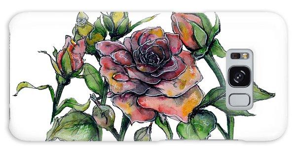 Stylized Roses Galaxy Case