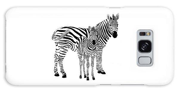 Stylized Zebra With Child Galaxy Case