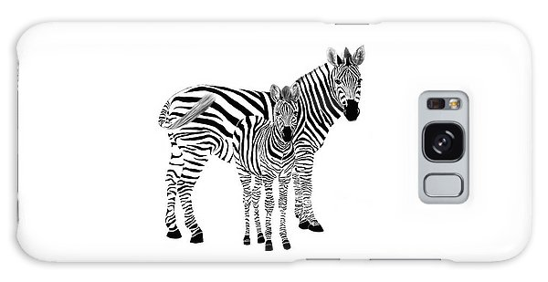 Stylized Zebra With Child Galaxy Case