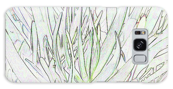Succulent Leaves In High Key Galaxy Case by Nareeta Martin