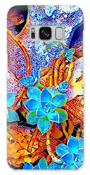 Succulents On River Rock Galaxy Case