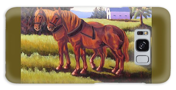 Suffolk Punch Day Is Done Galaxy Case