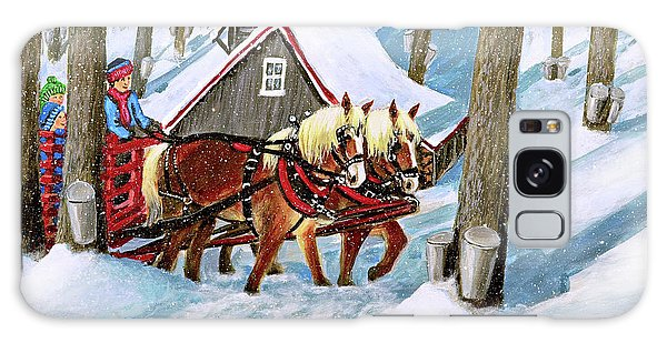 Sugar Bush Sleigh Ride Randonne En Traneau Sucre Galaxy Case