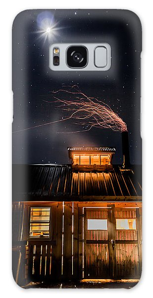 Sugar House At Night Galaxy Case