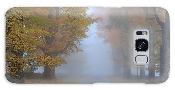 Sugar Maples On A Misty Country Road Galaxy Case by John Burk
