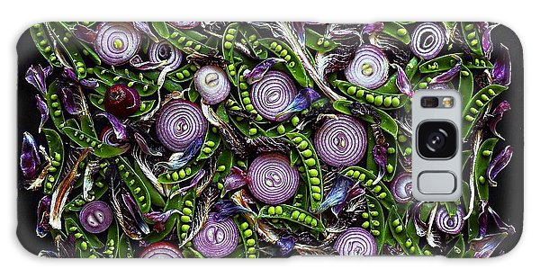 Sugar Snap Peas And Red Onion Mix Galaxy Case