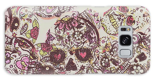 Punk Rock Galaxy Case - Sugarskull Punk Patchwork by Jorgo Photography - Wall Art Gallery