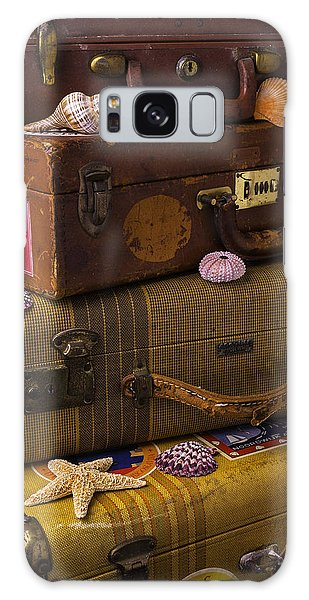 Sea Stacks Galaxy Case - Suitcases With Seashells by Garry Gay