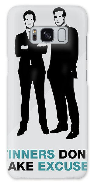 Suits Tv Show Poster Harvey Quote - Winners Don't Make Excuses Galaxy Case