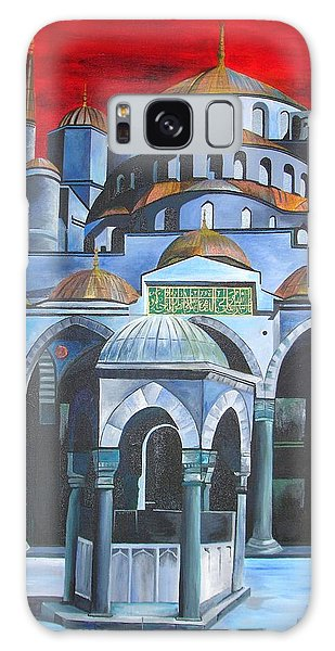Sultan Ahmed Mosque Istanbul Galaxy Case by Tracey Harrington-Simpson