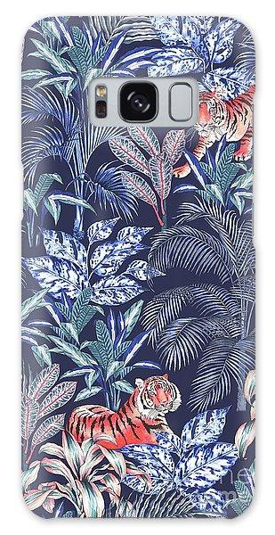 Sumatran Tiger, Blue Galaxy Case