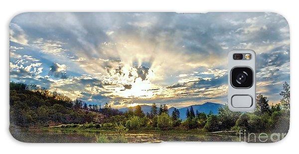Sumer Solstice Sunrise Galaxy Case