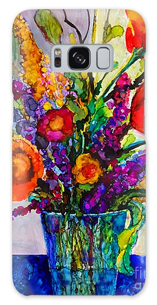 Galaxy Case featuring the painting Summer Arrangement by Priti Lathia